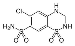 формула гидрохлоротиазида
