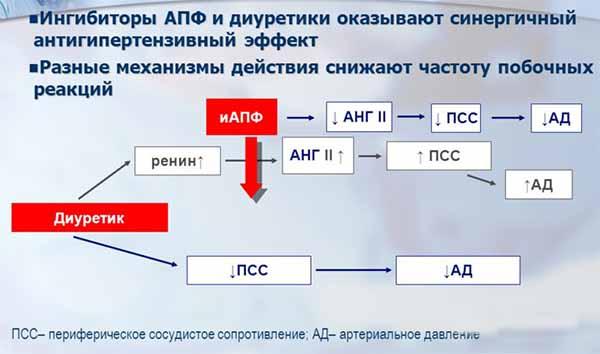 механизм действия иАПФ и диуретиков