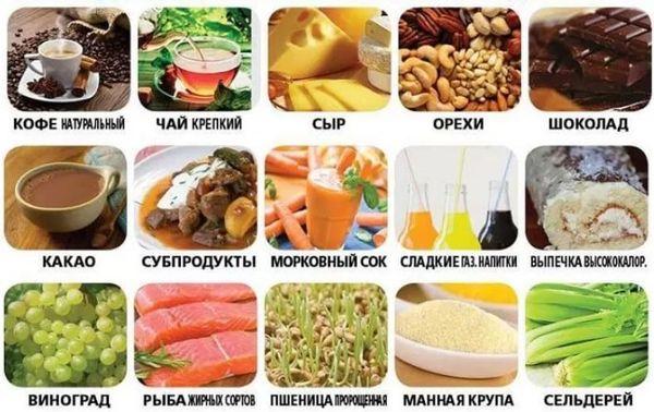 продукты от низкого давления