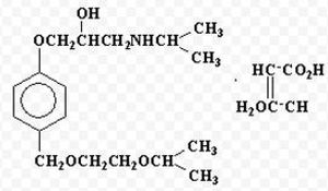 формула бисопролола фумарата