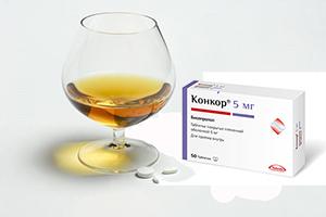 таблетки Конкор и алкоголь