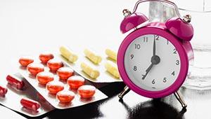 таблетки и часы