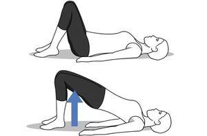 упражнение поднимание таза