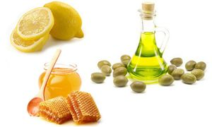мед с лимоном и оливковым маслом